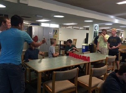 Competitive ping pong takes over library