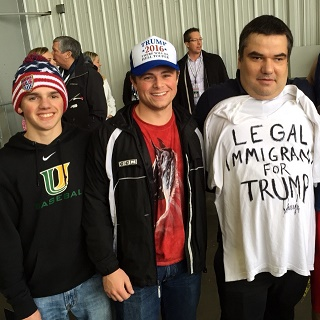 Donald Trump's visit to Bloomington brought out many Central Illinoisans, including juniors Matt Mosele and Ryan Poland who went to hear what he had to say.
