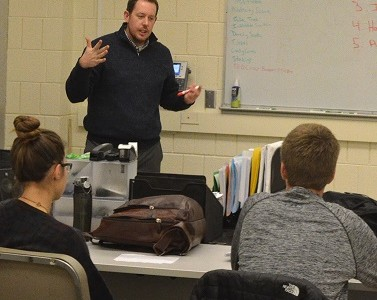 Sports and Entertainment Marketing teacher Andrew McDowell works to bring real world content into the classroom.