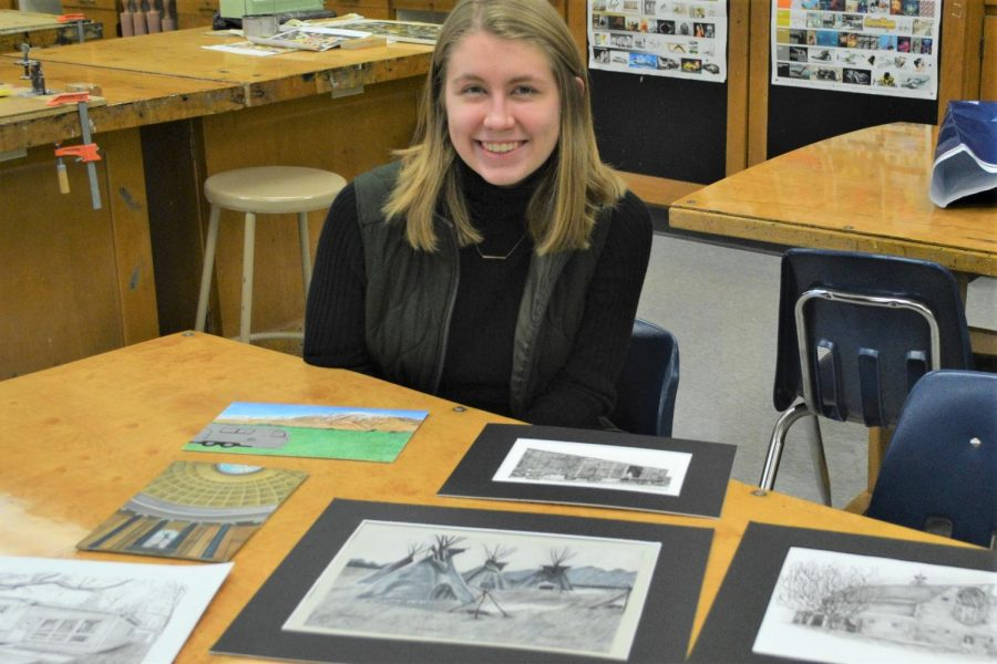 Her future plans are to work in a museum, and senior Anna Tulley enjoys exploring memory, art, and spaces.
