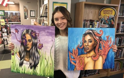 """When I was nine months old, I drew a key on a piece of paper,"" senior Ella Zona recalls of her first encounter with art. ""I've been into it almost my whole life."" As Zona has grown up, her artistic style has blossomed alongside her."