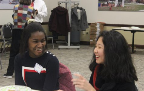 While eating a snack at a break time, Jenny Park and Tolu Adanri share some stories and laughs.