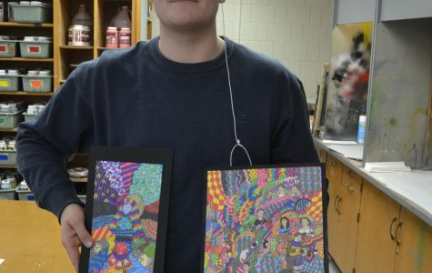 "As a child, junior Harrison Gordon loved drawing and being creative, but he didn't explore art a whole lot in middle school. Mike Henning's Art Fundamentals class has led Gordon to reconnect with art and the happiness it gives him. Gordon said he got back into art because he needed a way to express himself other than the music he makes. ""I love art so much because of the freedom it gives me to make whatever I want, and truly express and bring to life ideas I have,"" Gordon said. ""It's one of my favorite hobbies now"""