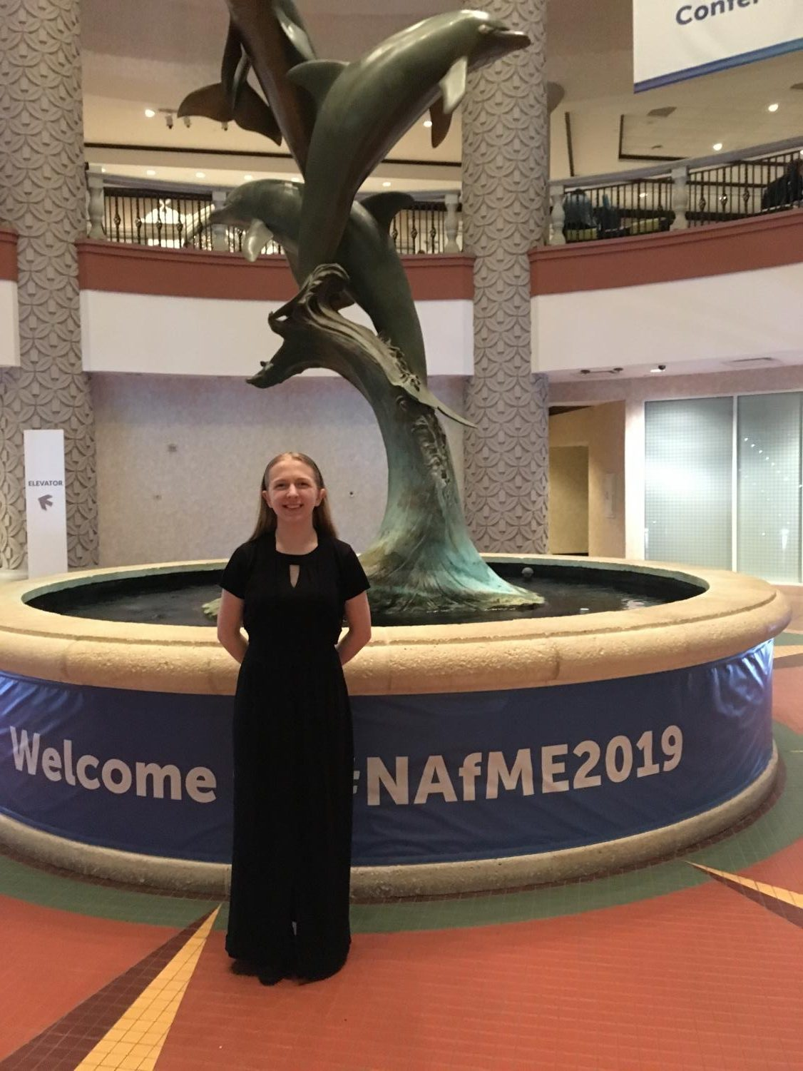 After singing her way past district judges and submitting video performance, Abby Naden was selected for the National Choir.